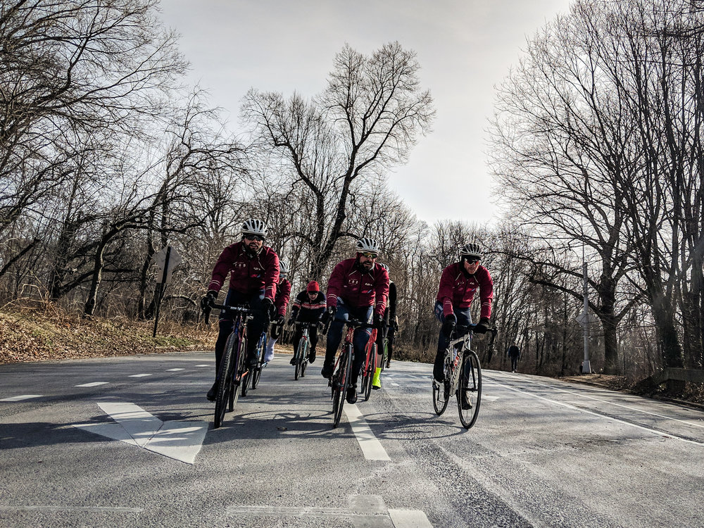 Team post CX WCs rolling around PP