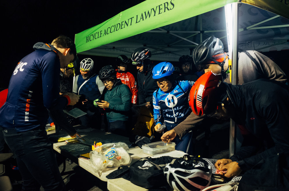 The pre-race rush at the registration table where CRCA invested in new iPads this year to improve electronic check-in.