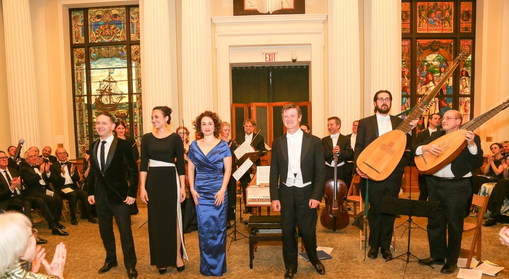 Harry Bicket and The English Concert perform at the New-York Historical Society, March 10, 2016, with guest soloists Iestyn Davies, counter-tenor, Isabel Leonard, mezzo-soprano, and Erin Morley, soprano.