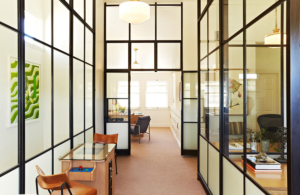 Los Angeles architect  Tim Barber Ltd.  renovated this small office in Brentwood.