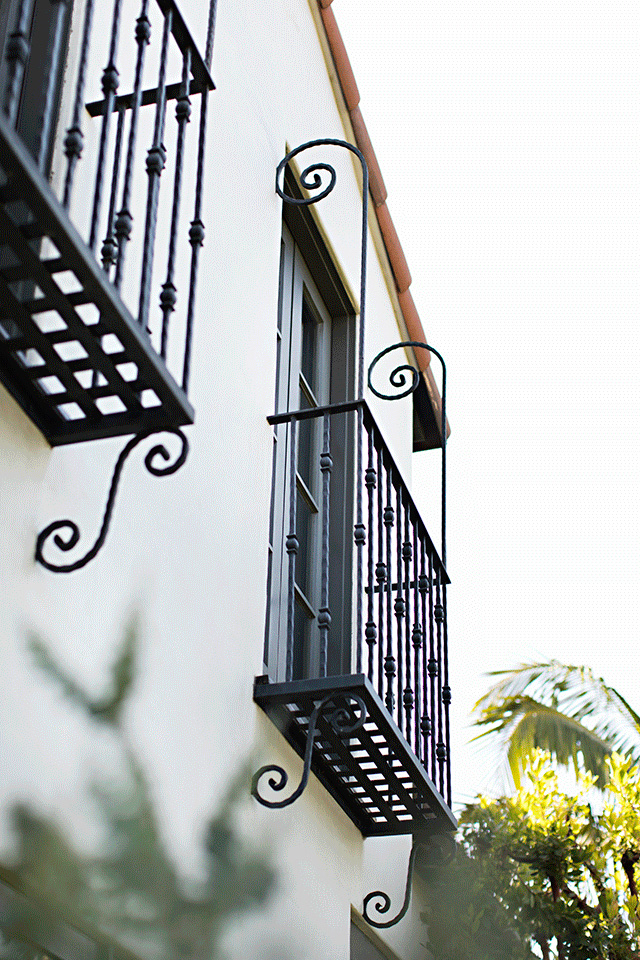 Spanish Colonial Revival Balconies