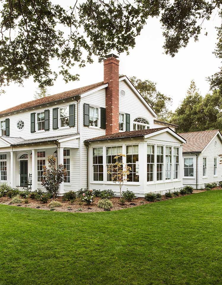 A new Southern Colonial Revival home in the Bay Area community of Atherton, California. Designed by Los Angeles architecture firm Tim Barber Ltd.