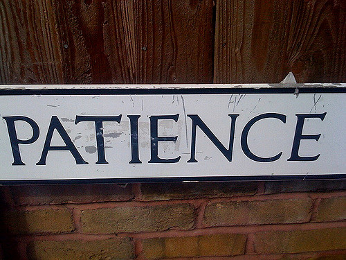 Whether you are receiving personal training or taking group classes, patience is key!