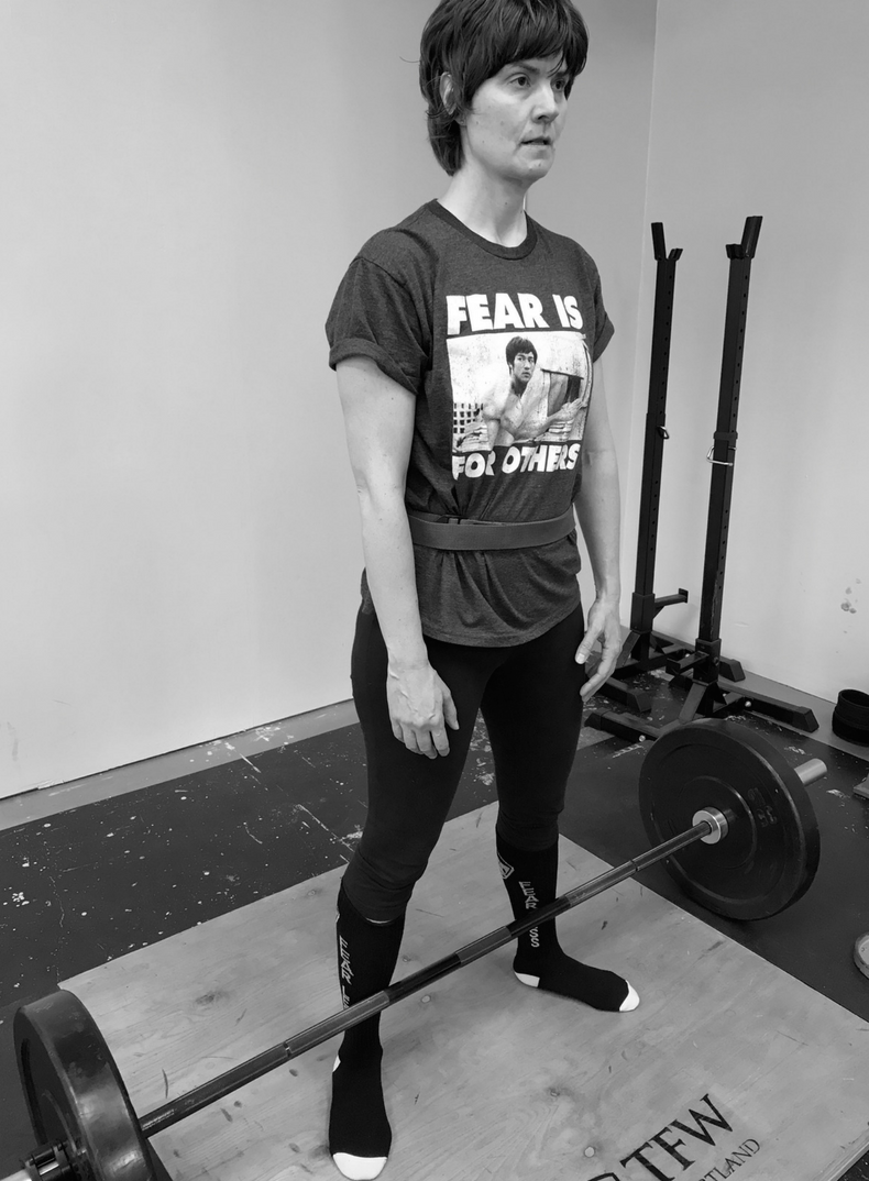 Amber gets swole here at Training for Warriors Portland