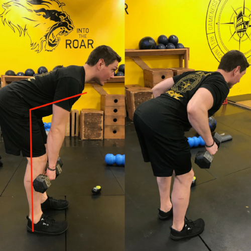 bent row Training for Warriors Portland