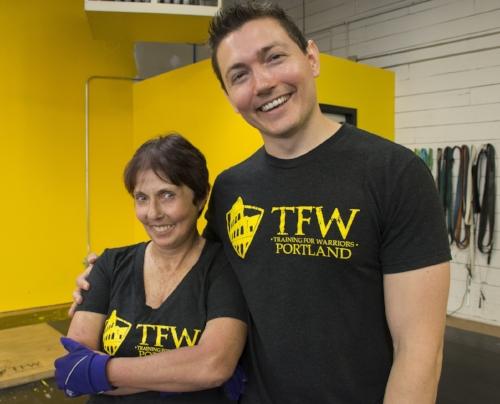 Marie and Coach Josh! TFW Portland