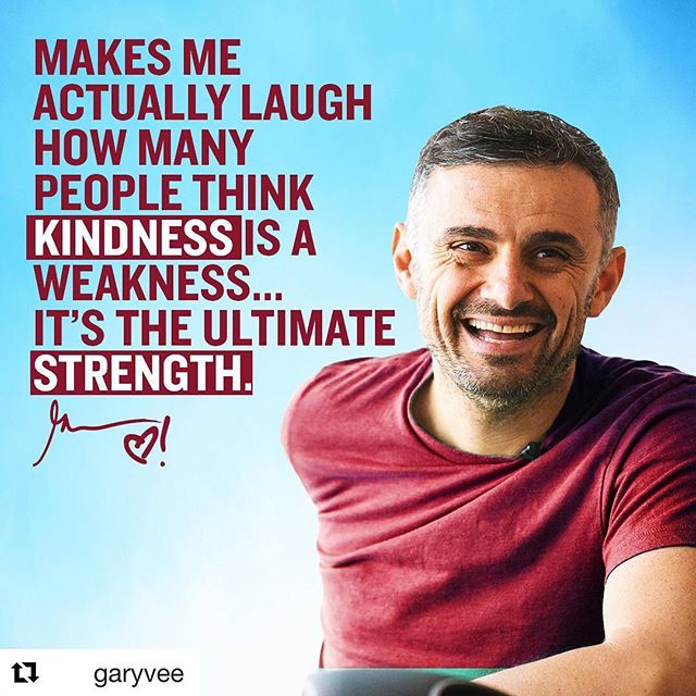#Repost @garyvee with @get_repost ・・・ People are so confused. Their ego fires up and they think people are taking advantage of them, of their kindness, of who they are. - They think they are push overs, soft ect... meanwhile it's the person taking advantage of that's weak, that needs to pray on kindness because they are actually weak on the inside. - I am excited about exposing this theory over the next 60 years and leaving an impact on what is really going on in life. It's an inside game! -  #mindsetiseverything #makepositivitylouder #kindnessrocks