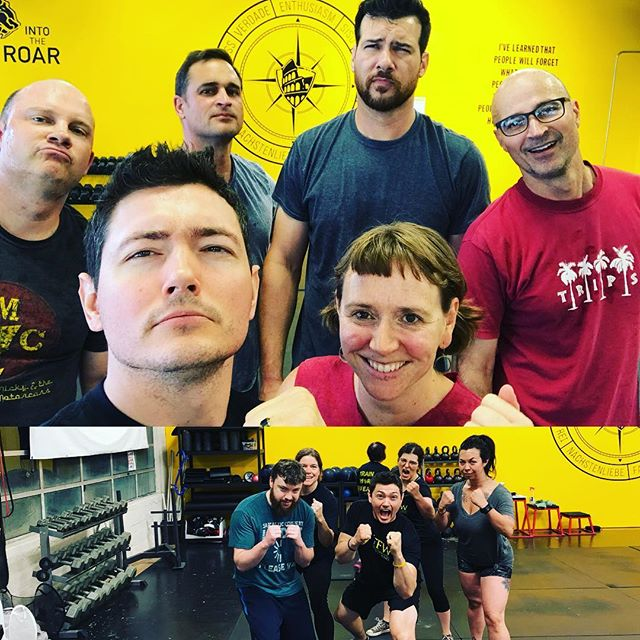 Back in Black & Gold. Rocking at 5am, Noon, 5pm and everywhere in-between!  Thanks Warriors, for making the day fly by and keeping me talking like a radio about how to build muscle, burn fat, and feel good!  #tfw4life #liftheavyandsprint #riseandgrind #coaching