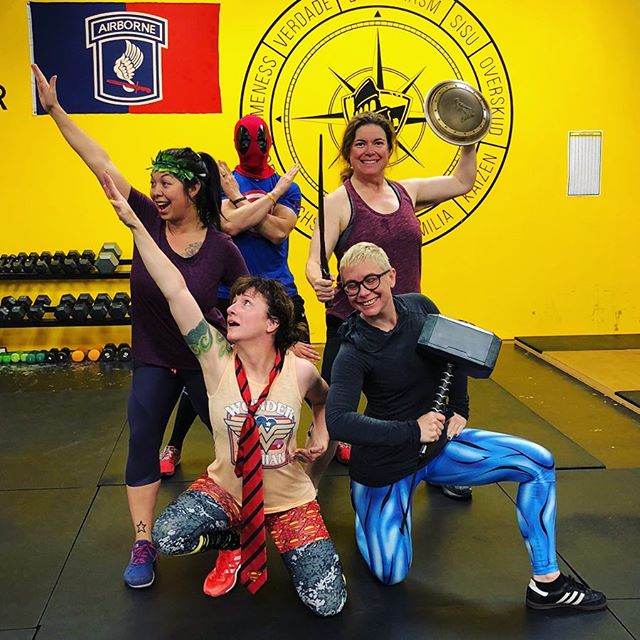 👊💥⚡�TFW Portland is wrapping up the first day of our Marvel vs DC challenge! All PDX warriors have have split into these two super-teams and can receive points by 1. Posting a pre/post TFW workout with their buddies and 2. Posting their warrior-20 inspired meals! . . 🤷�♀�Don't know which team you're on? NO PROB— the list is posted at the gym! TEAM MARVEL is headed by the awesome Coach Janelle @janellenellz while TEAM D.C. is led by the indomitable Coach Bootsie @bootsies_fuzzy_logic. . . The winning team will be announced at the TFW Night of the Living Deadlift Party on Friday October 26th! PRIZE TBA �😱� . . Start snapping pics of those healthy meals! Bust out your superhero (or villain) swag... or just borrow some of ours 💪💪 and we'll see YOU at the gym! . . #marvelvsdc #nerdswholift #gymchallenge #pdxgym #mobility #culture #collaboration #transformation #strengthcoach #trainingforwarriorsportland #tfw4life #fitness #fitfam #success #grit #gymlife #gym #functionalstrength #squat  #deadlift #fitnesstips #fatloss #coach #workout #pdxfit #pdxfitness #pdx #pdxstrength #portlandhealth #liftheavyandsprint