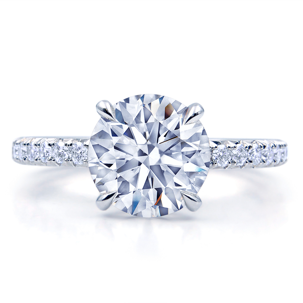 Round Brilliant Diamond Engagement Ring.