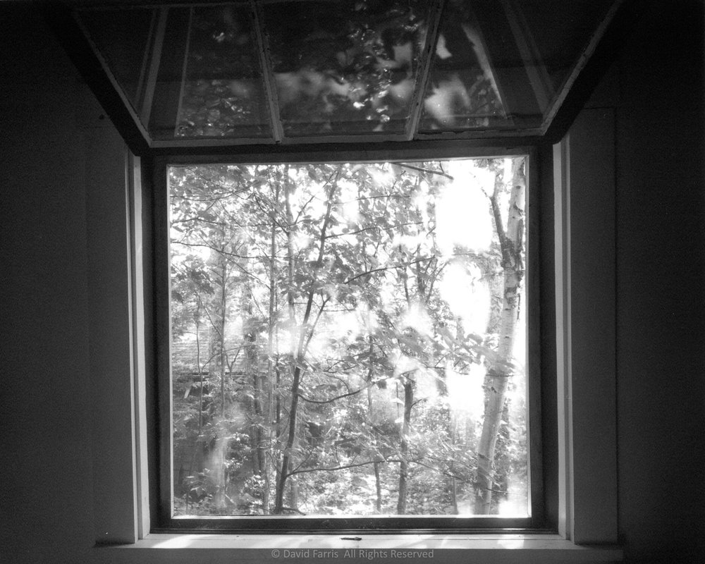 Sleeping Camp Window, Shin Pond, Maine