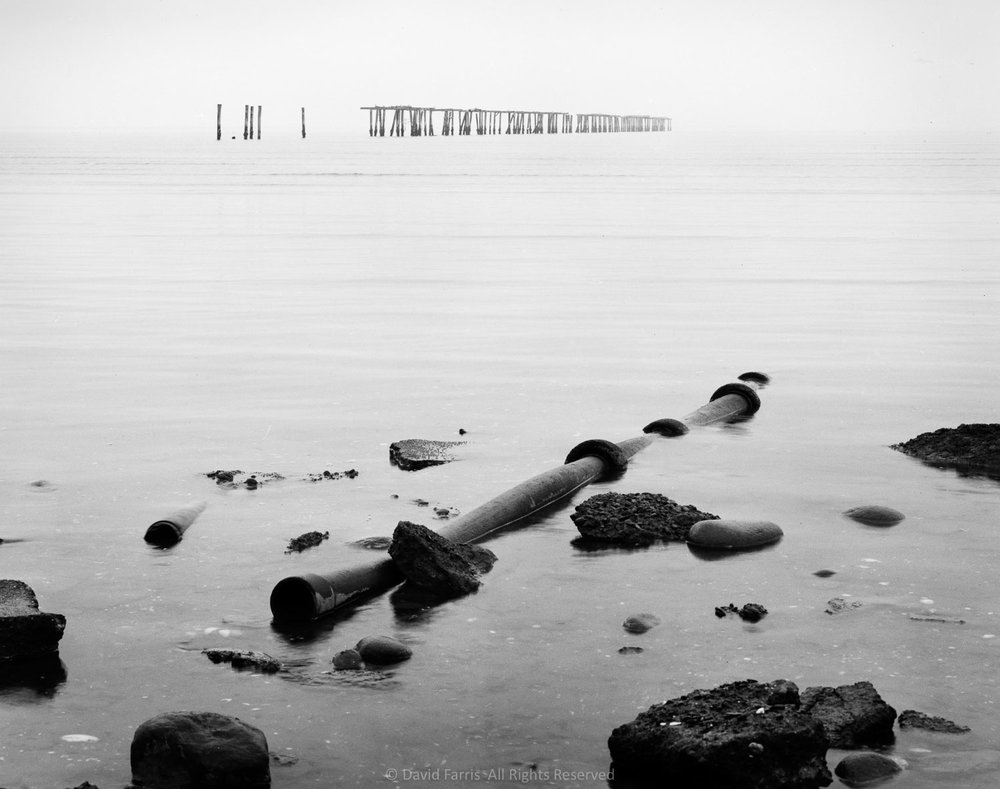 Pipe and Pilings, Puget Sound, Washington