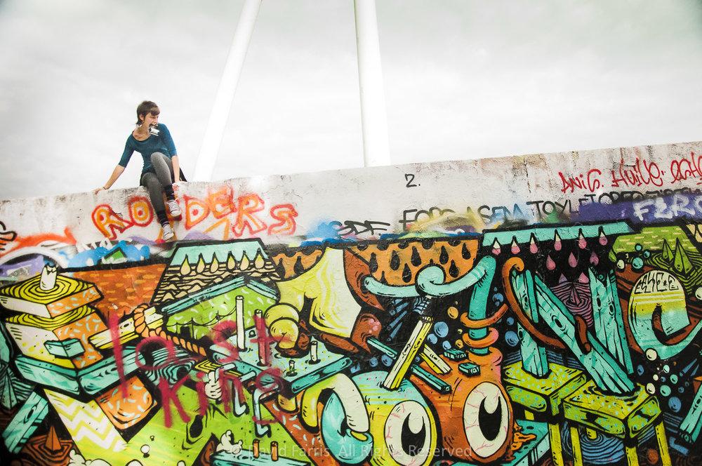 Climber, Berlin Wall, 2015