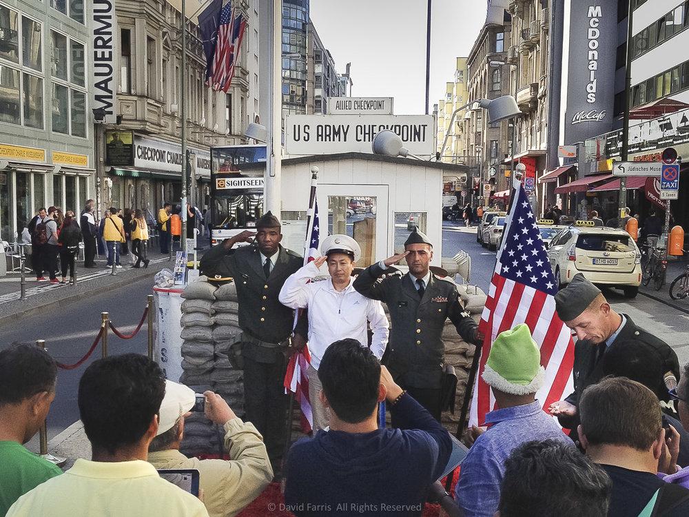 Checkpoint Charlie, (Three Euros,) Berlin, 2015