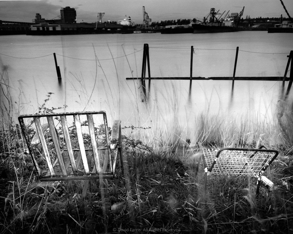 Chairs, Willamette River, Portland, Oregon