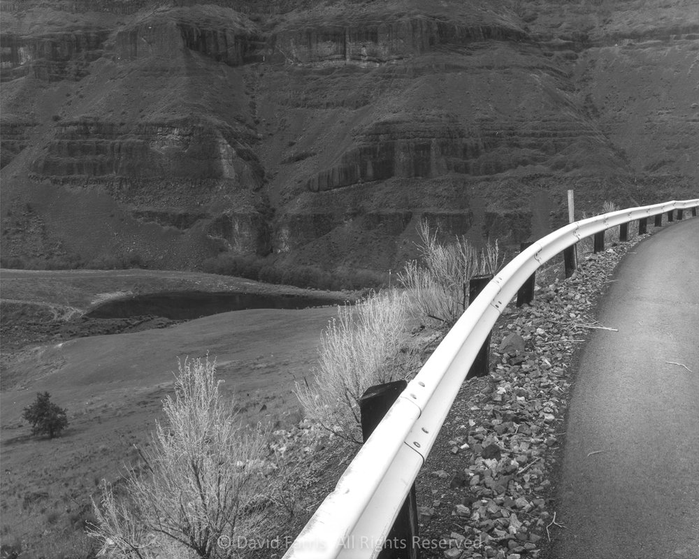 Guard Rail, Highway 216, Sherman County, Oregon