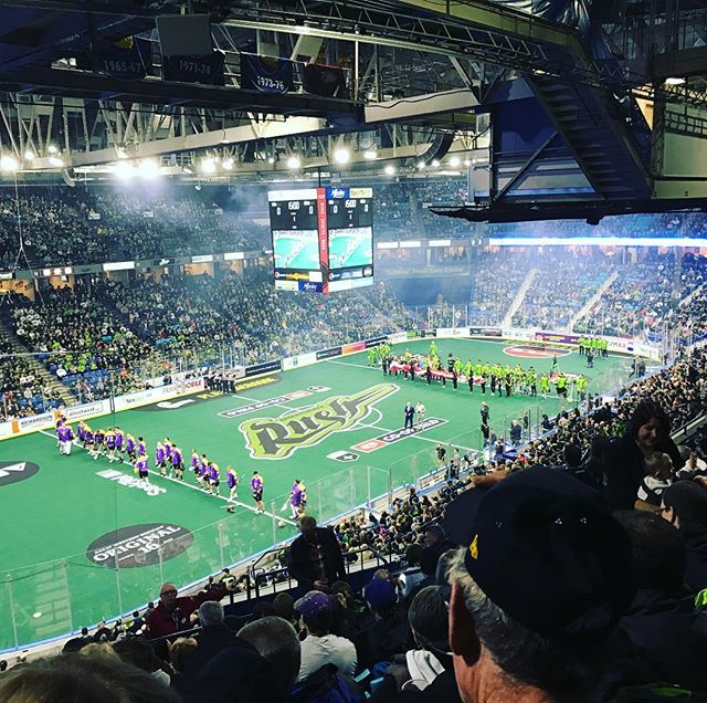 Rush Night!! #sasktelrush #rush #lacrosse #yxe