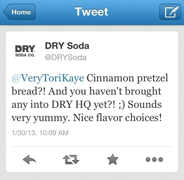 Dry Soda want Cinnamon Pretzel Bread