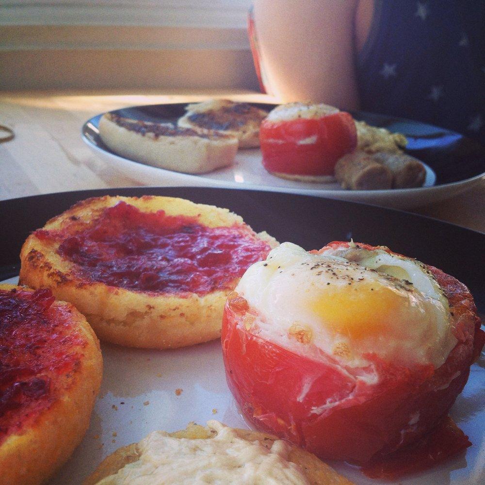 Egg Stuffed Tomatoes