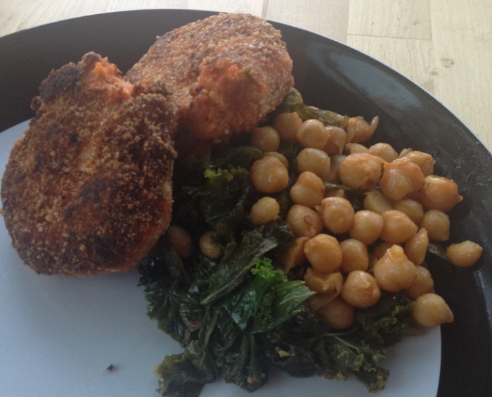 Sautéed Kale & Spicy Chickpeas
