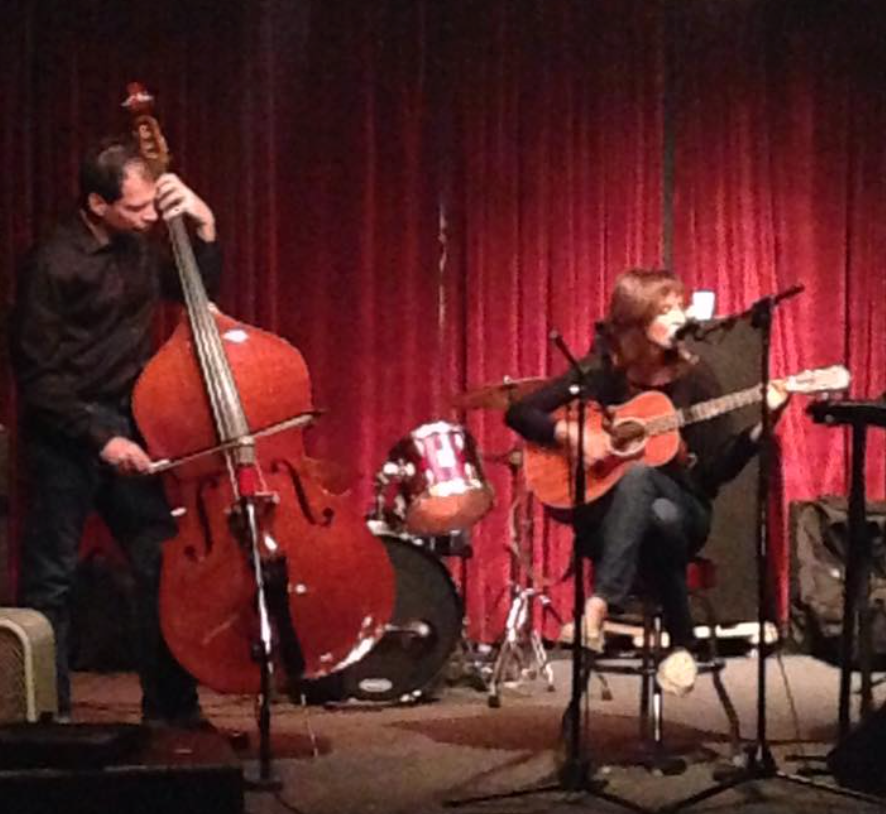 Performing as That, That Revolves, accompanied by Bill Shuster on bowed double bass.