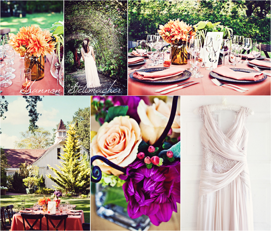Bright colored wedding details napa