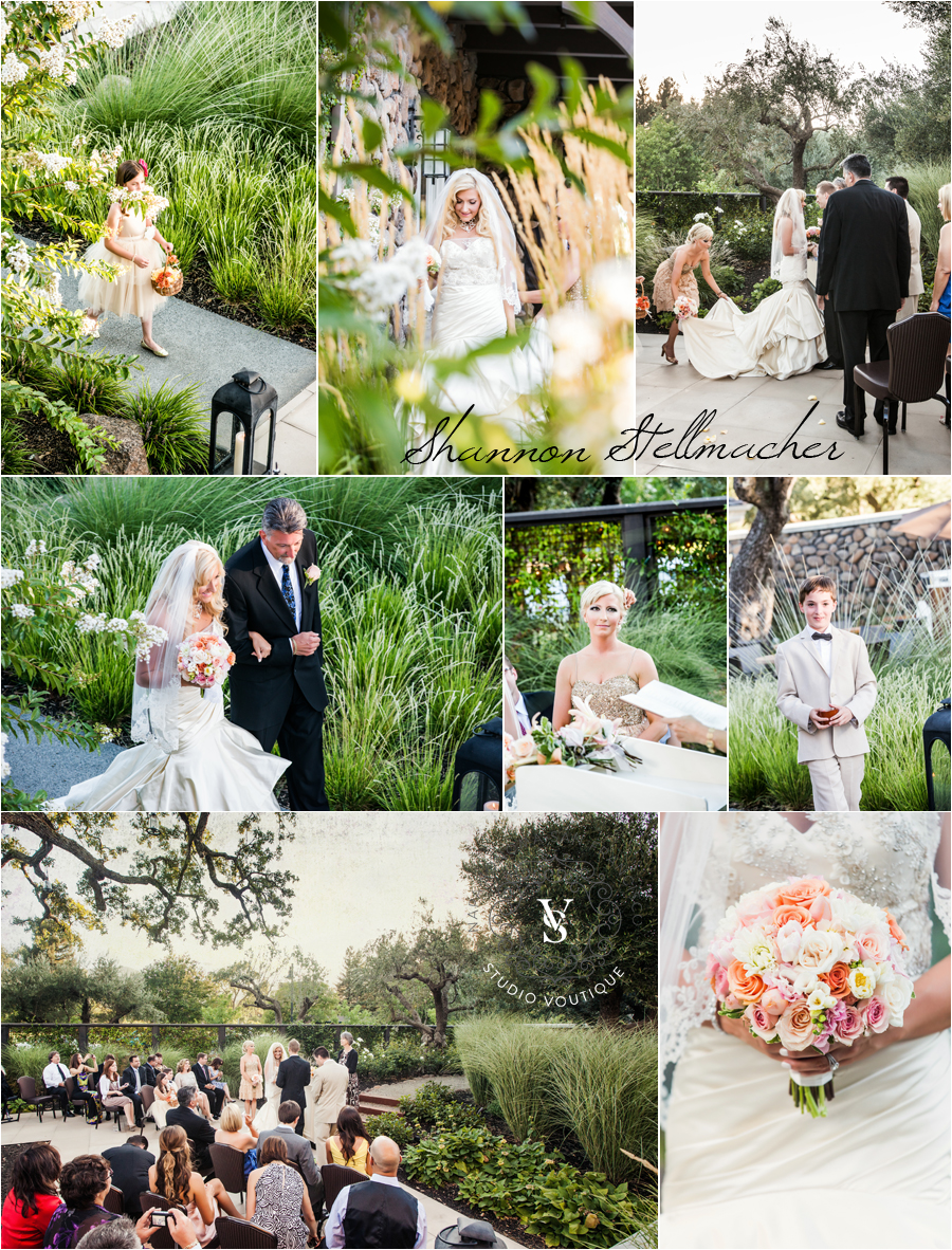yountville hotel wedding ceremony