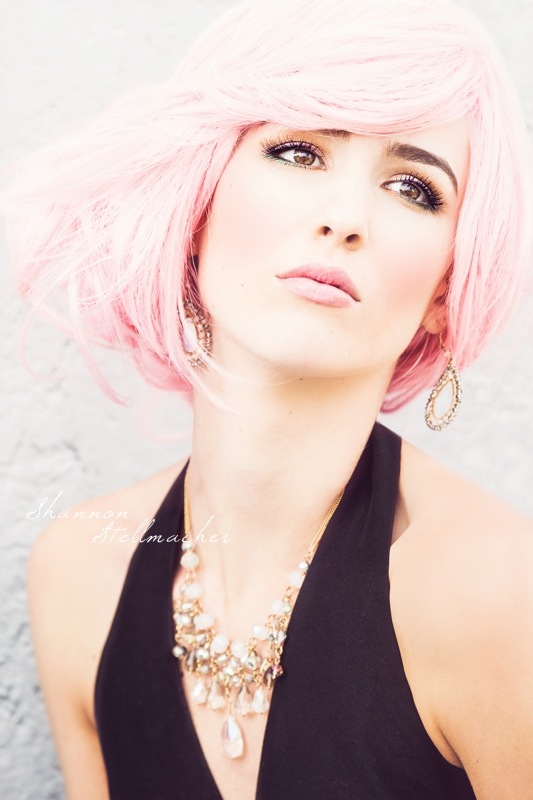 urban fashion pink hair 2t