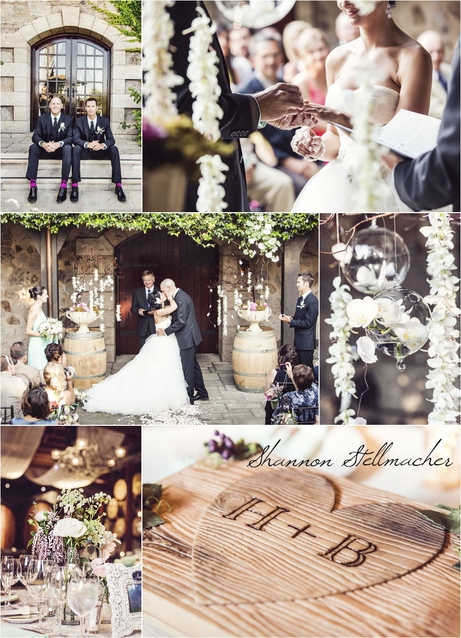 V. Sattui Courtyard Wedding