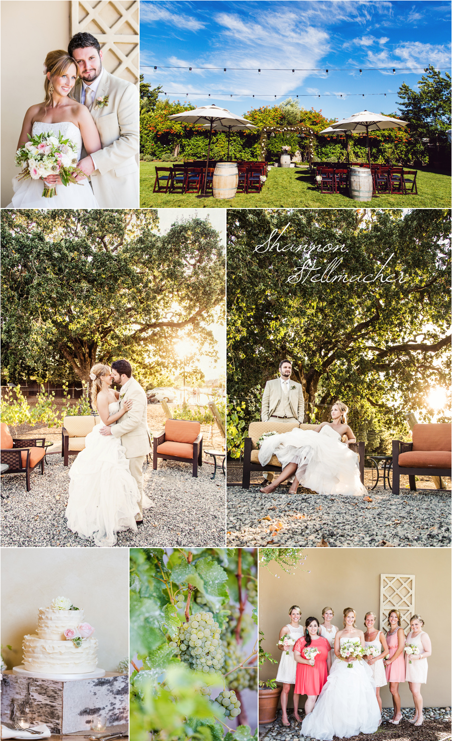 Wine Country Wedding ~ Shannon Stellmacher