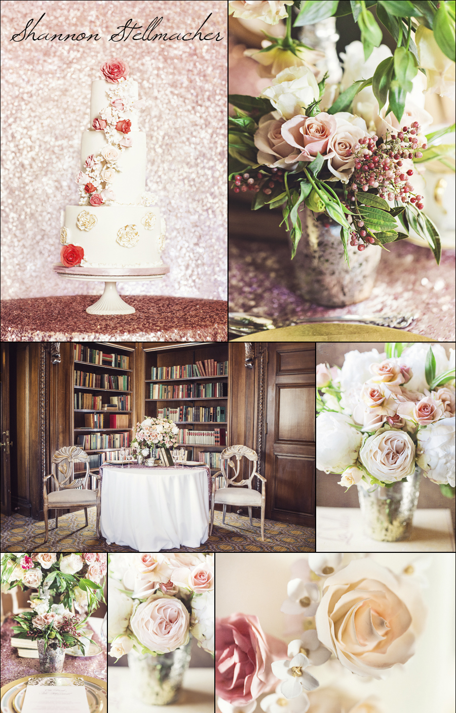 peach and pink wedding decor