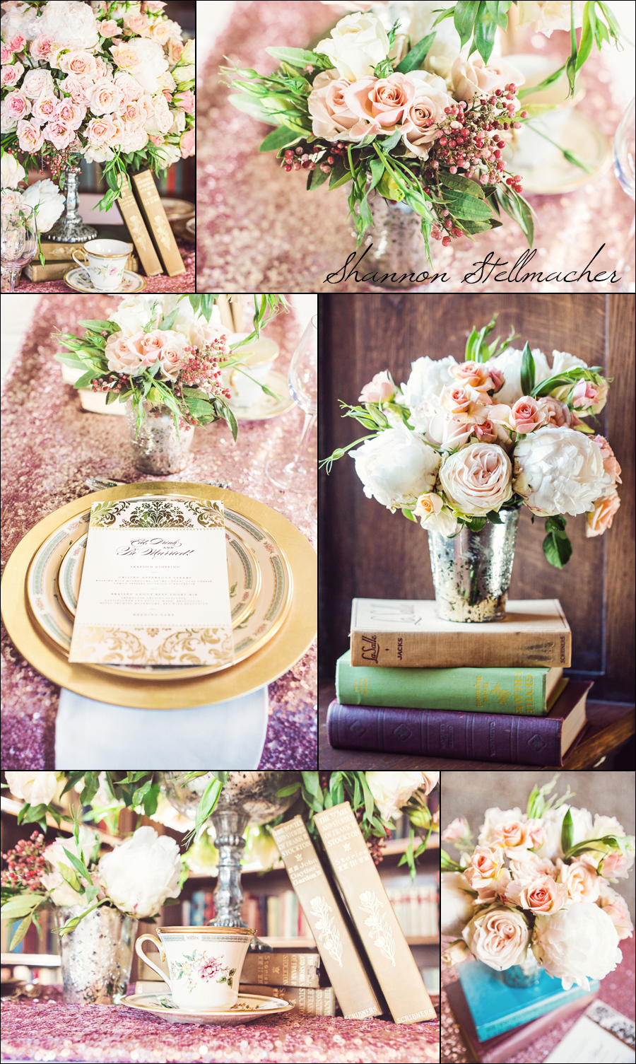 peach pink wedding florals san francisco