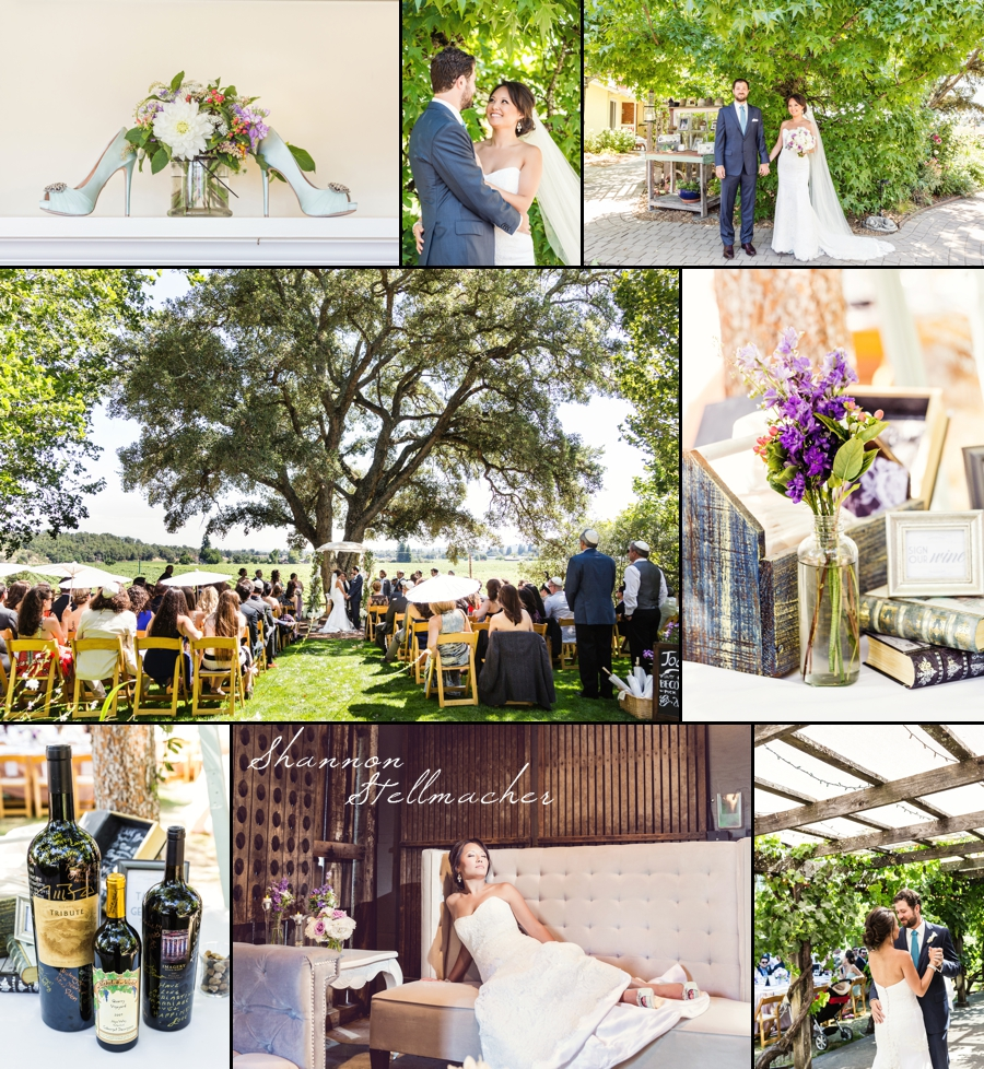 Healdsburg Country Garden Wedding