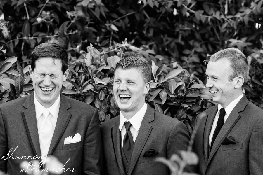Laughing groomsmen Napa web