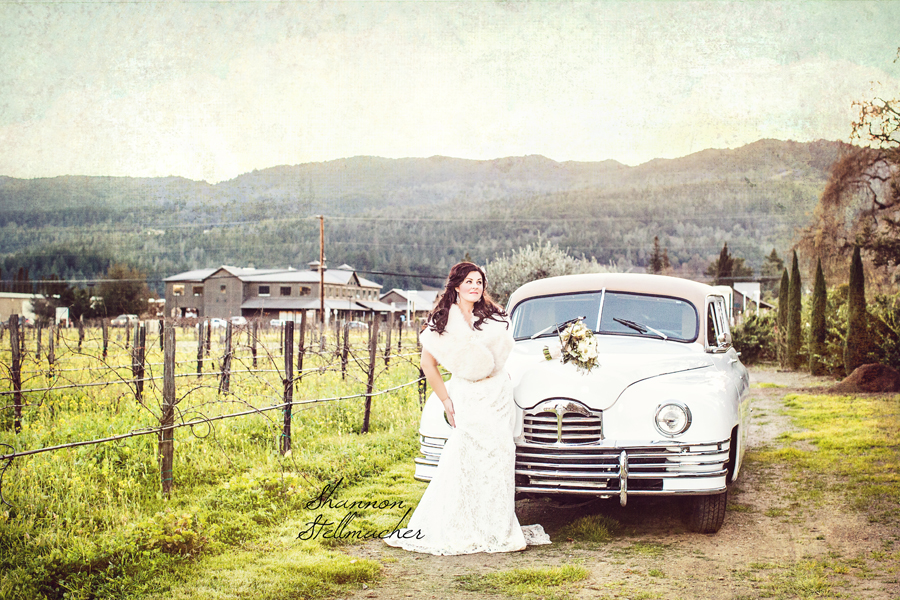 Vintage Car +Vineyard Wedding Napa