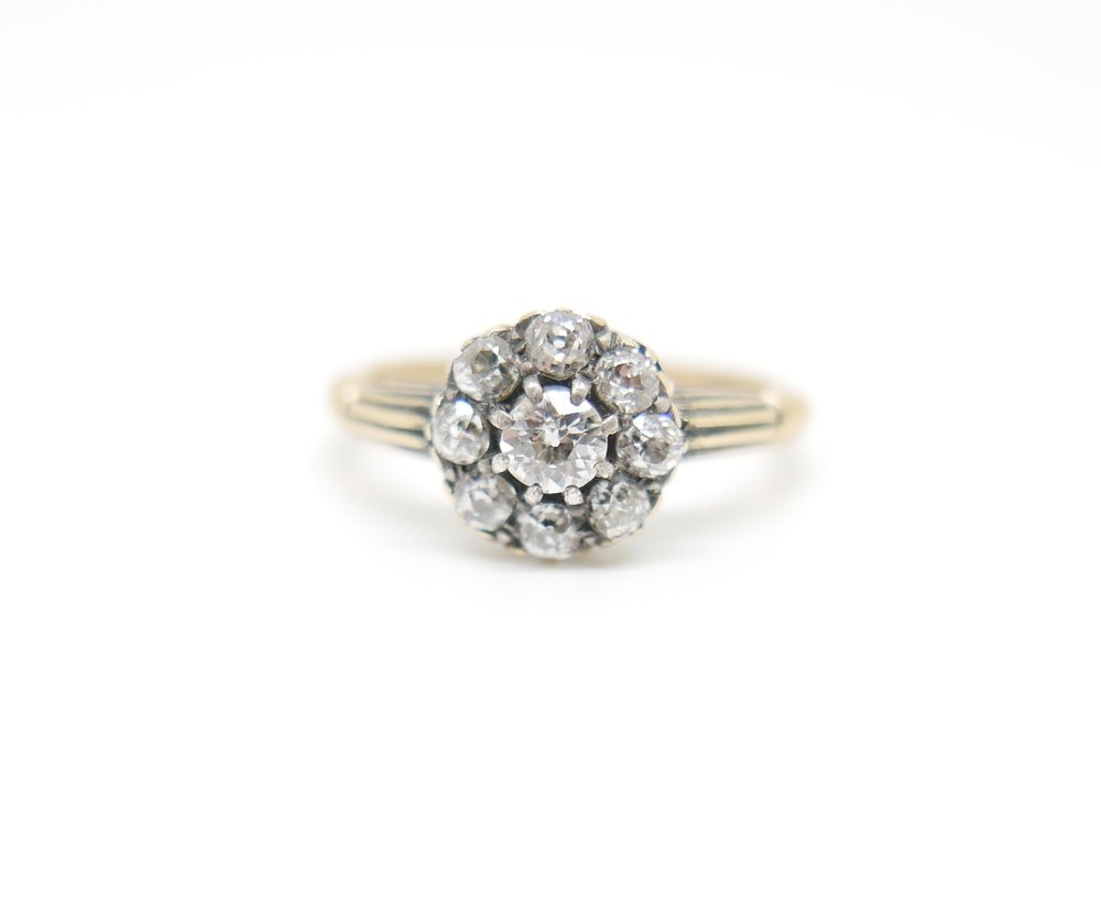 Diamond Daisy Ring