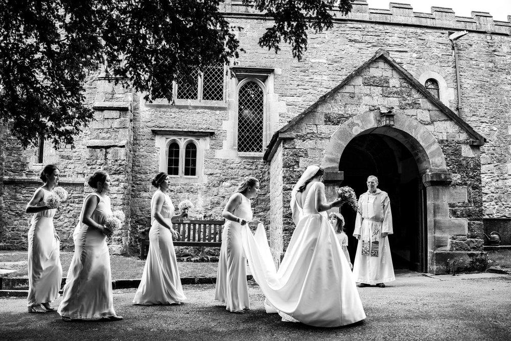 Bridal Party Arrival