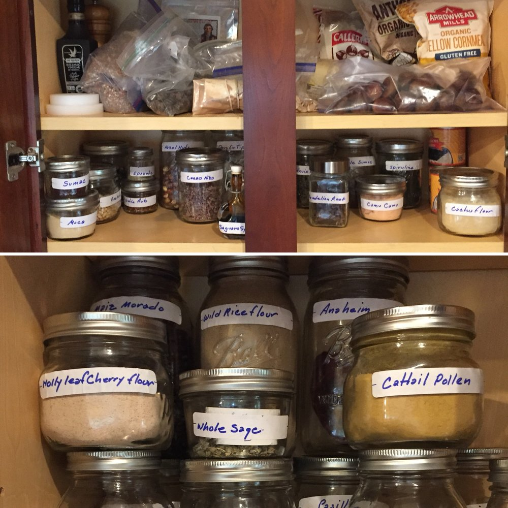 My Pantry Full of Native Ingredients
