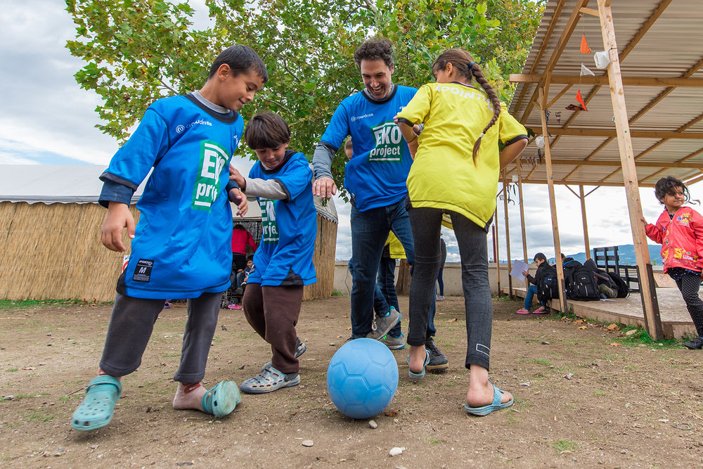 We joined with CrowdRise on their EKO Project to help bring the power of soccer to a Syrian refugee camp. - Learn more about our community impact