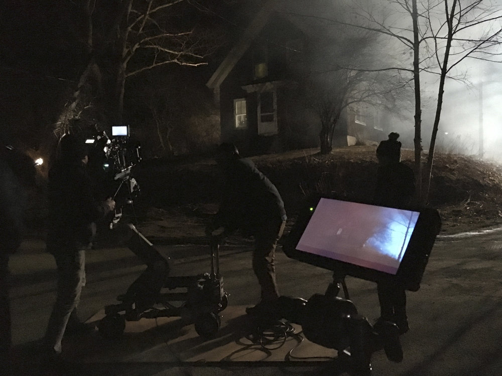 DP Mark Farney shoots a night scene in Camden