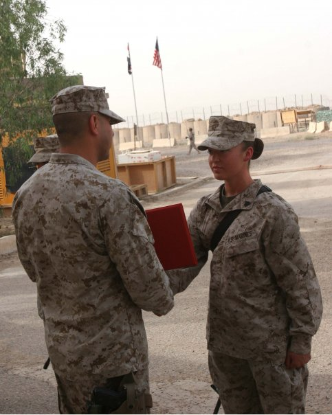 Promotion to USMC Sergeant in TQ, Iraq 2006