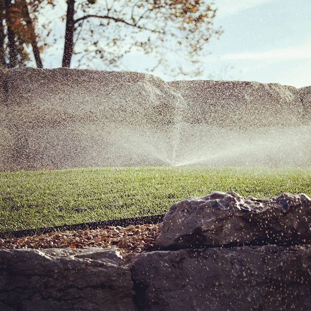 And it all started with a little Irrigation #irrigation #outdoorinnovationsfor417land #outdoorliving #greengrass
