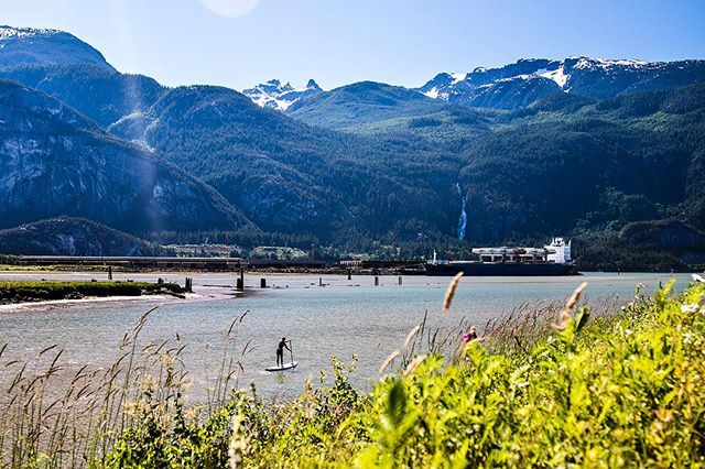 Our morning paddle... --- This is as far north as either of us have ever been... should we go further? #squamish #britishcolumbia
