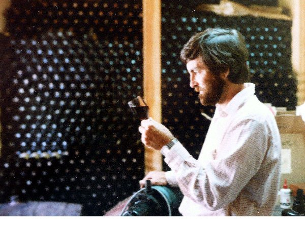 Brian Holmes in his wonderful Glenfinlass cellar circa 1977.