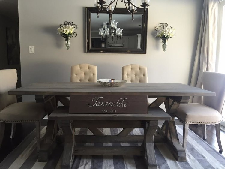 Gray Farmhouse Dining Table The Michigan