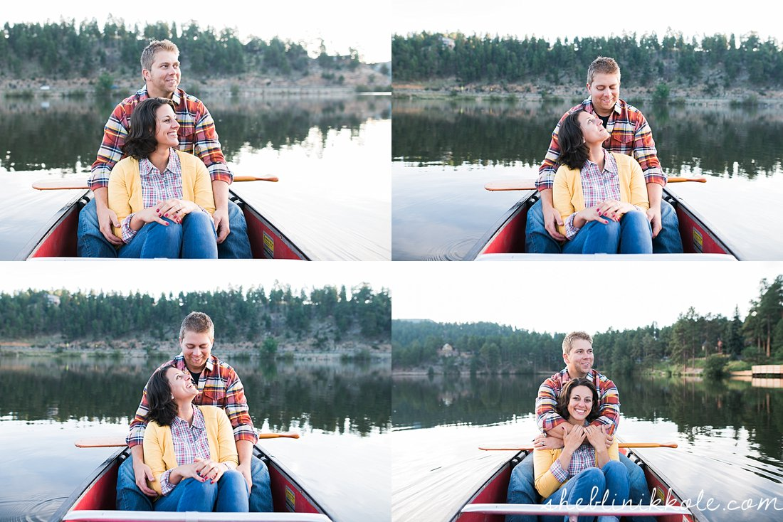 colorado canoe engagement photography, lake engagement pictures