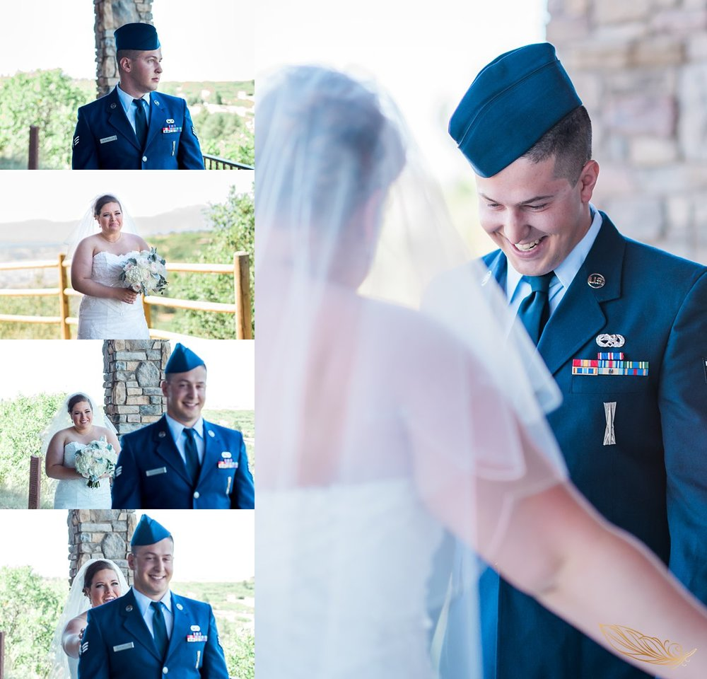 st francis of assisi wedding photographer, castle rock first look wedding photography