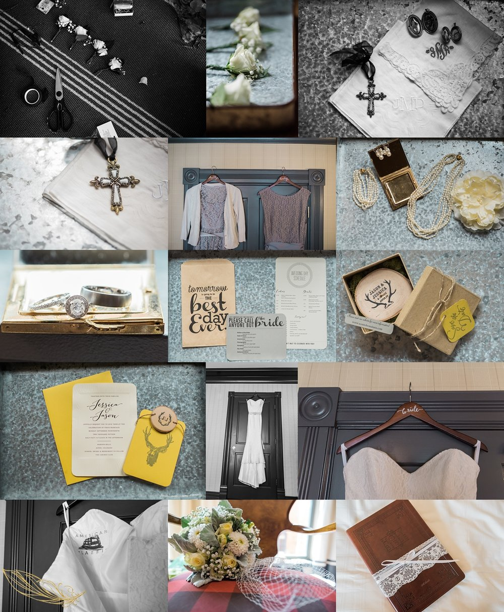 diy wedding details, wooden wedding details, hotel jerome wedding, colorado wedding details, colorado mountain wedding photographer, diy wedding flowers