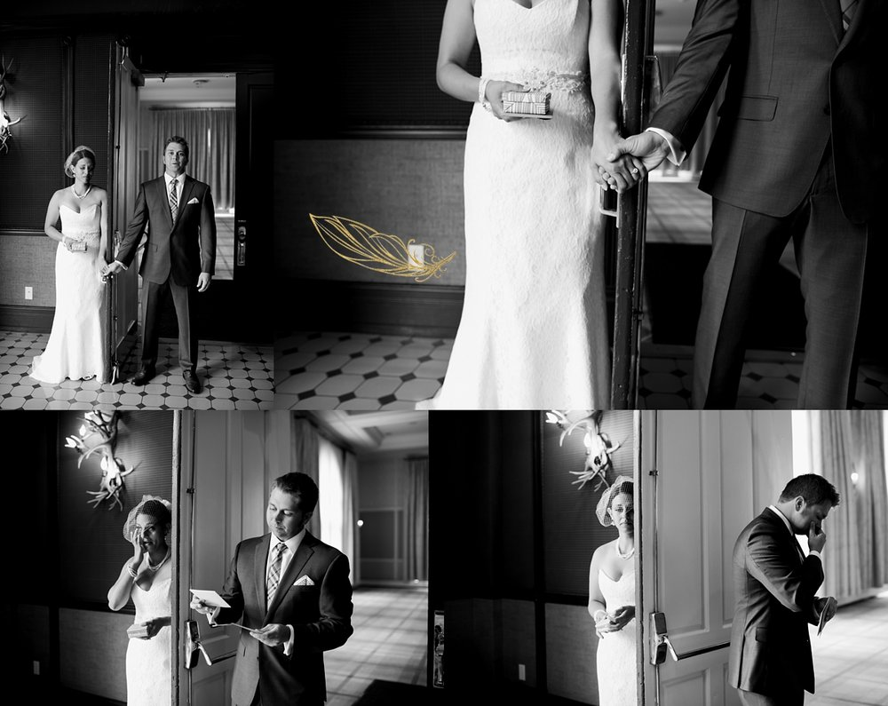 blind first look, hotel jerome wedding, rocky mountain wedding photographer, colorado wedding photography