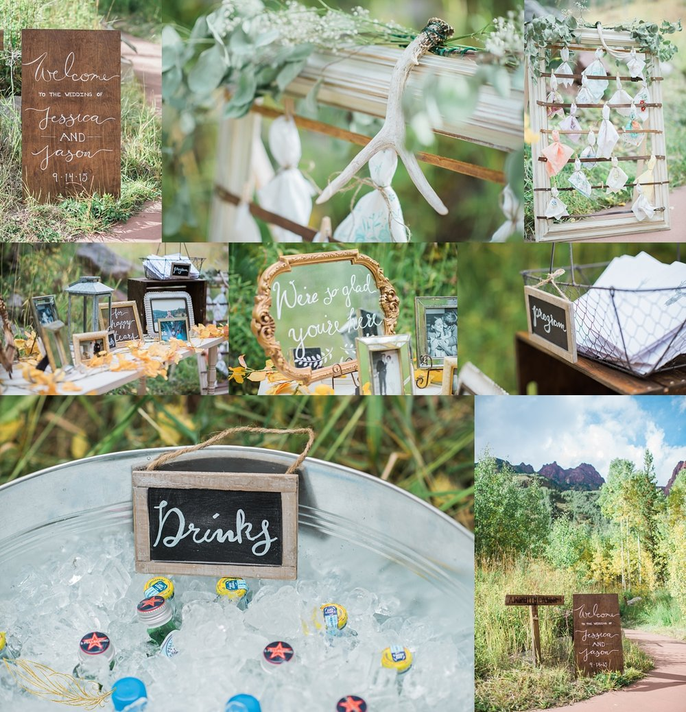 diy ceremony details, maroon bells wedding, colorado mountain wedding photographer